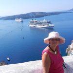 Karin Patrick in Santorini, Greece