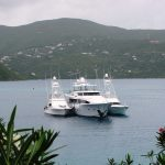 M/Y Olga in North Sound, Virgin Gorda, British Virgin Islands.