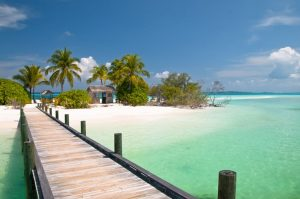 a dock in the Bahamas