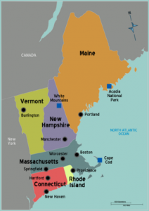 New England Map - North American Yacht Charters