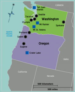 The Pacific Northwest Map - North America Yacht Charters