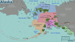 Alaska regions map. North America Yacht Charters