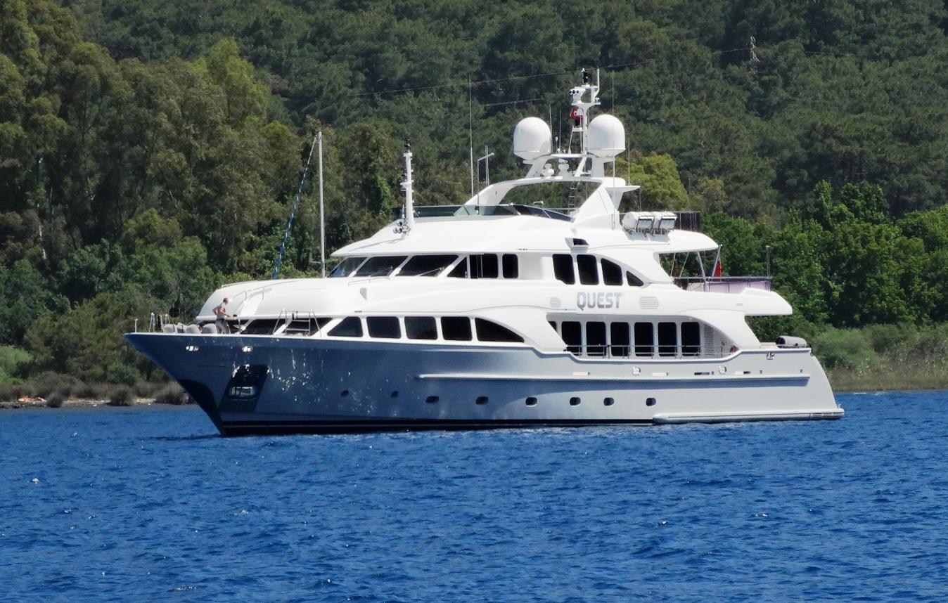Mega Yacht Quest R, Turkey luxury yacht charters Quest R, otor yacht charter QUEST R in the Eastern Med.