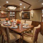 "Yacht charter Bahamas ""At Last"" Dining"