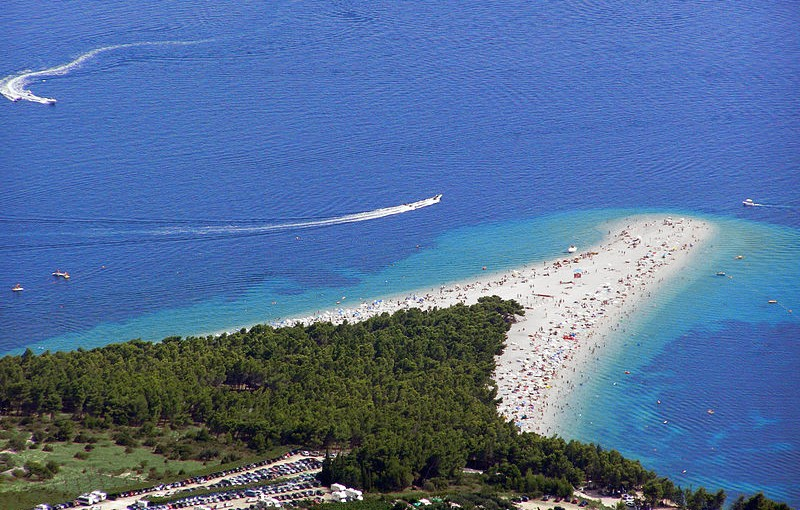 Photo of Zlatni rat taken from Vidova Gora, Croatia.