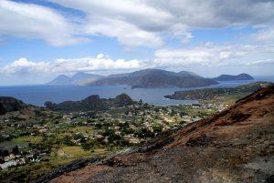 View of Aeolian Islands from Vulcano