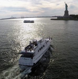 "Luxury Motoryacht ""Justine"" Statue of Liberty NewYork"