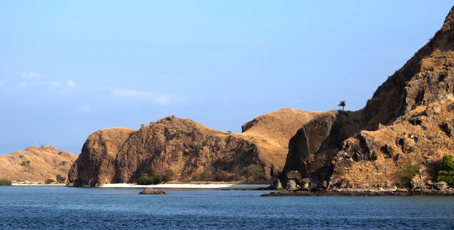 Rugged terrain of the Komodo Islands, Indonesia