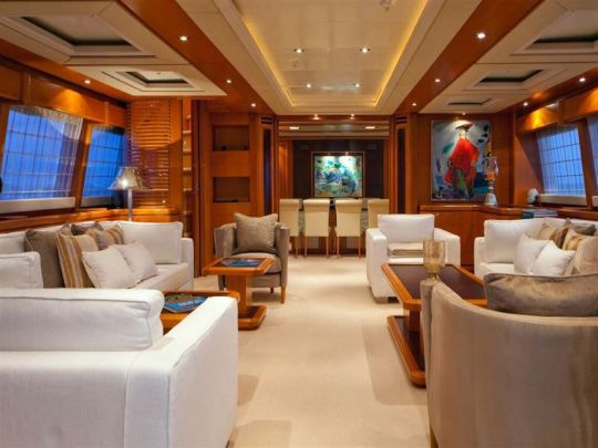 M/Y Areila. Entertainment Lounge. Mediterranean yacht charter. Turkey yacht charter