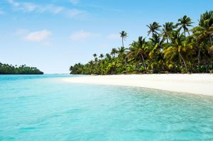 Beach in the Cook Islands - South Pacific luxury yacht charters