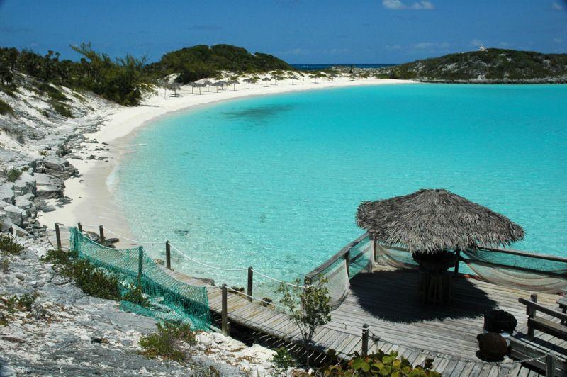 Half Moon Beach, Exumas, Bahamas