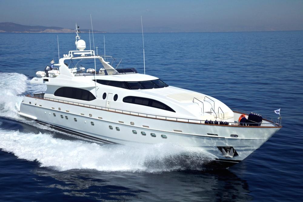 Greece motor yacht charter helios ckim group for Motor boat rental greece