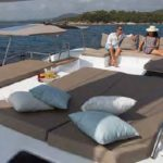 Sun deck on Luxury catamaran charter NEW HORIZONS II.