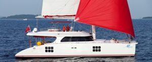 Catamaran yacht charter MUSE