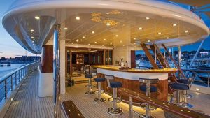 Luxury Super yacht charter CLARITY - outside bar