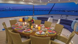 Luxury Super yacht charter CLARITY - outside dining