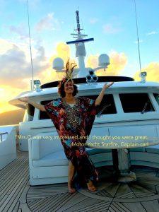 Virgin Island yacht charter Magician Lisa Minna