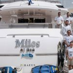 A Perfect Lunch aboard Greek Motor Yacht Milos at Sea