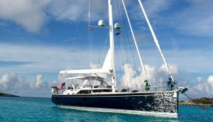 lunch on luxury yacht Blue Star