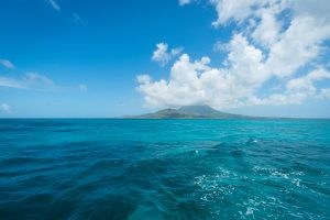 Looking over to Nevis from St. Kitts