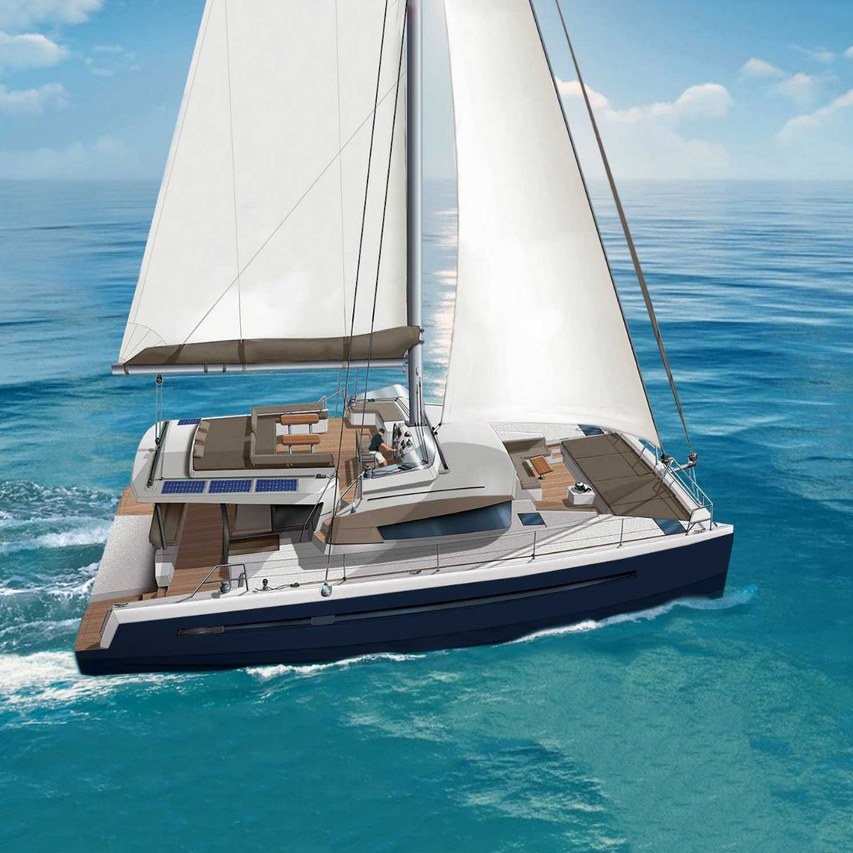 New Greece Catamaran Charter New Horizons 3 Ckim Group