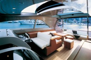 Greece motor yacht charter RIVA W - open flybridge