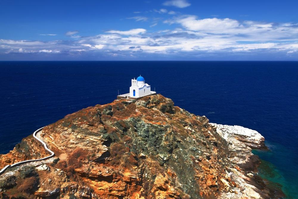 Sifnos, Greece on a yacht charter.