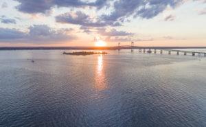 harbors along the New England coast
