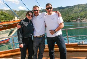 Antonia, Marko and Nikola on S/Y Libra
