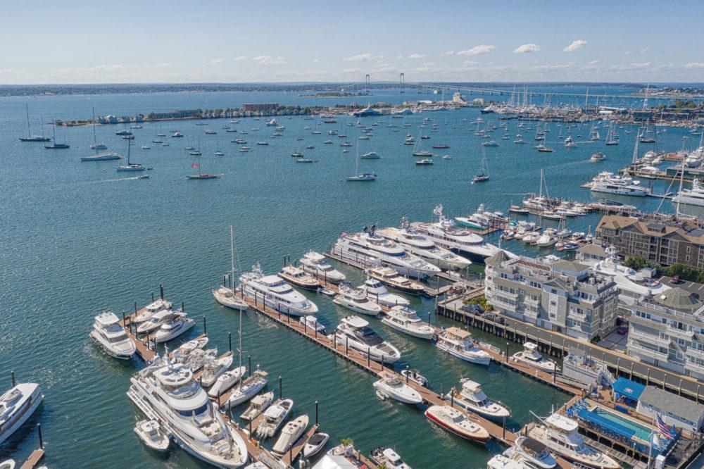 Newport Harbor, Newport, Rhode Island. The yachting capital of New England