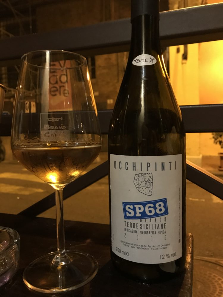 SP68 Moscato White Blend from Arianna Occhipinti in Sicily, Italy.