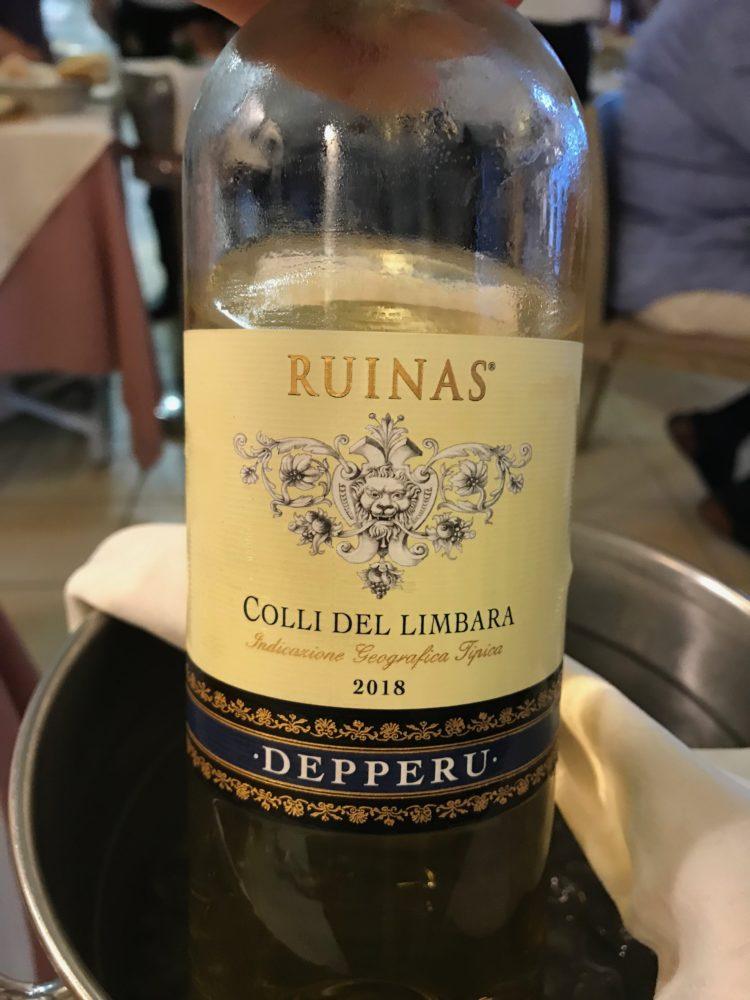 Vermentino wine from Cantina Depperu in Gallura, Sardinia.