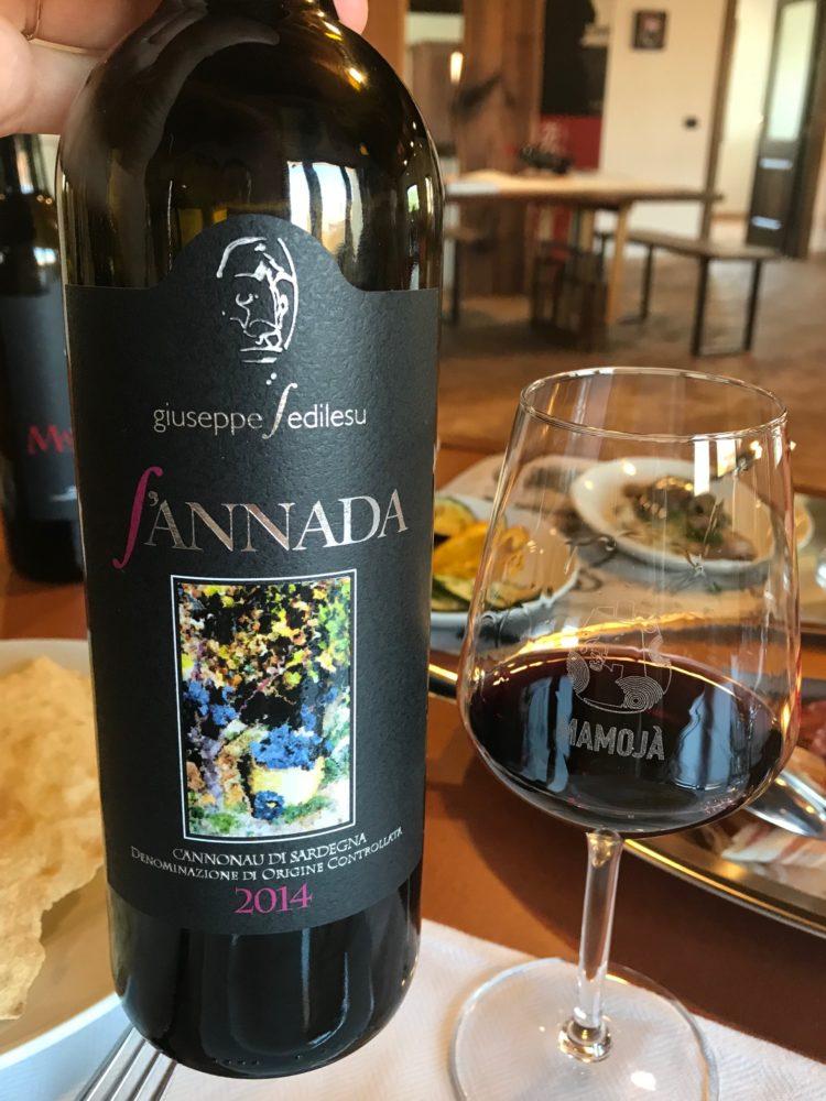 Cannonau wine from Giuseppe Sedilesu in Mamoiada, Sardinia