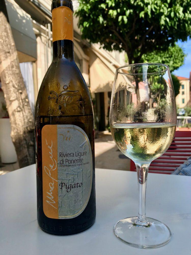 Pigato wine from Azienda BioVio on the Italian Riviera di Ponente. Liguria, Italy.