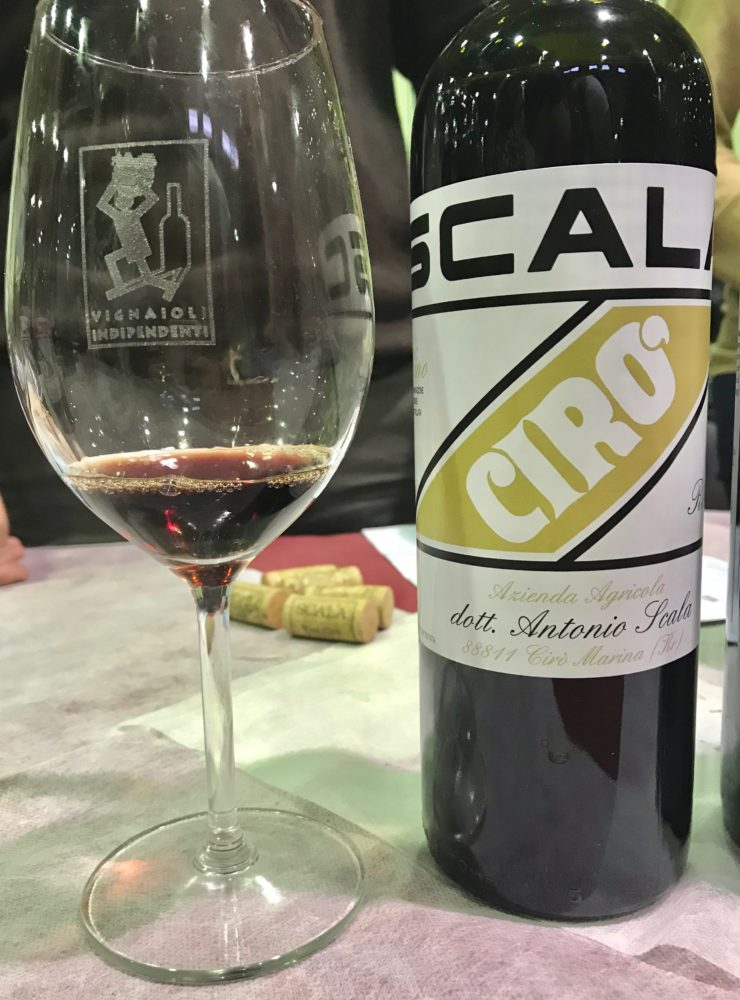 Cantina Scala's Gaglioppo Red Wine from Cirò in Calabria, Italy.