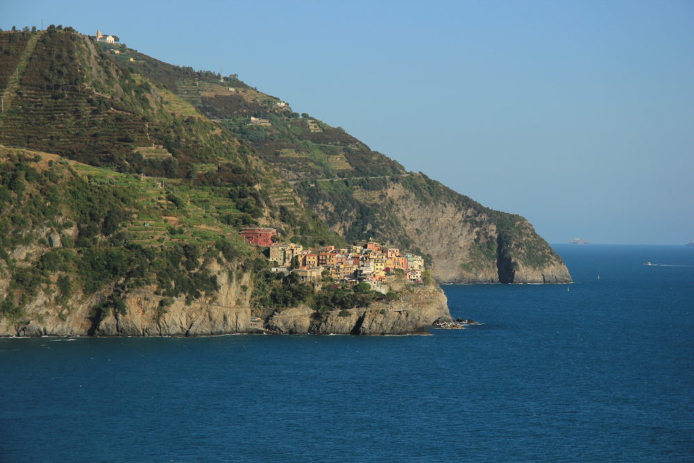 Vineyards above Manarola in the Cinque Terre, Italy.  Come discover the Italian Riviera on your own yacht charter.