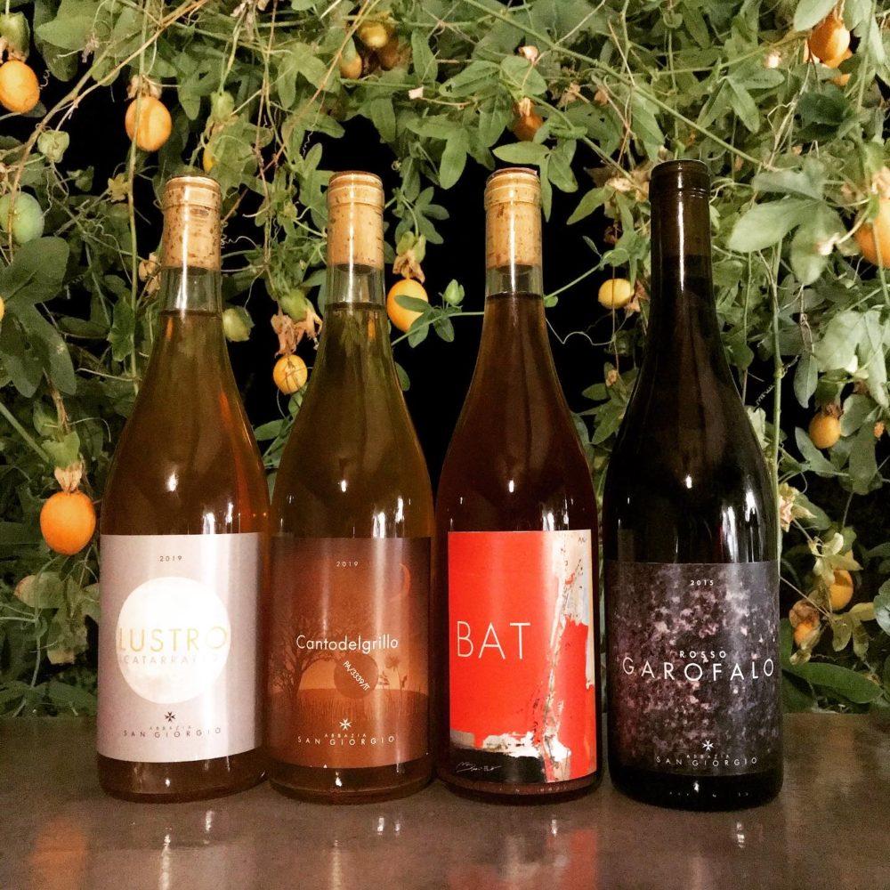 Portfolio of wines from Abazzia San Giorgio on the island of Pantelleria, Sicily