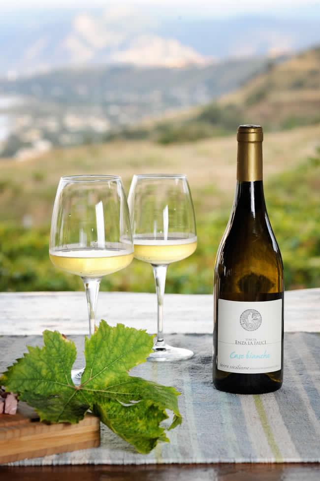 Case Bianche White Wine From Tenuta Enza La Fauci in Messina, Sicily. Courtesy of Vineyard.