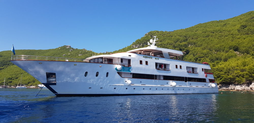 Croatia min-cruiser Adriatic Sun accommodating 36 guests in 18 cabins.