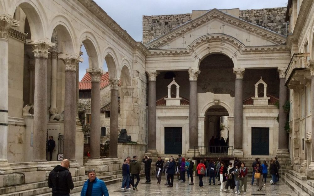 Square in the Diocletian Palace, Split