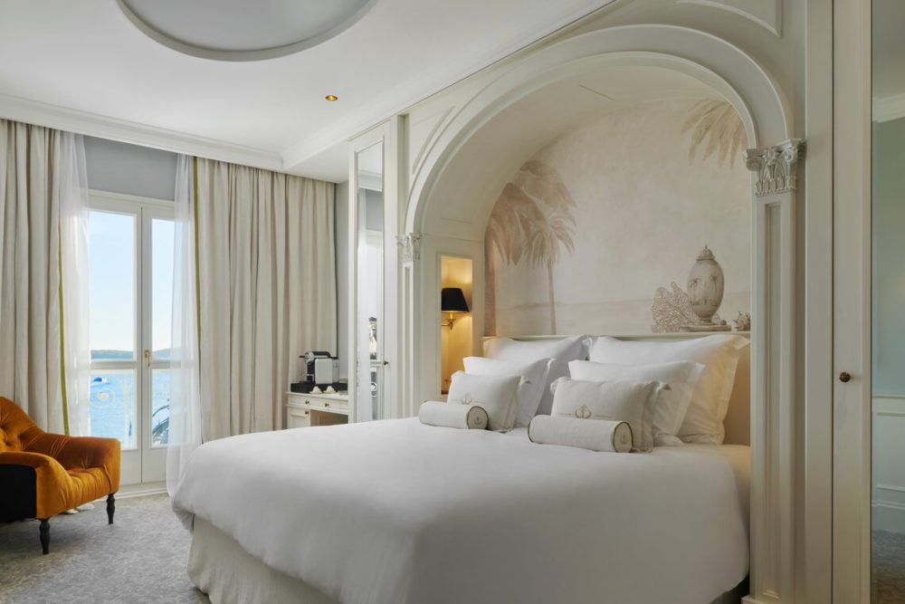 One of the stately rooms at The Elisabeth Heritage Hotel on Hvar Island