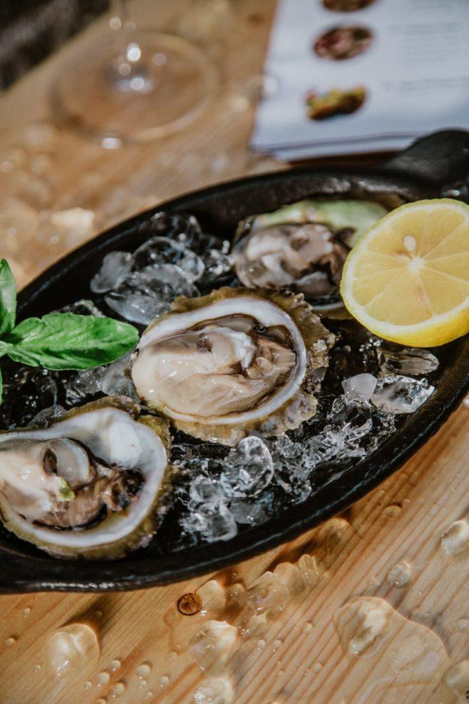 Fresh Oysters from Bota Sare in Ston, Croatia. Croatia Cuisine
