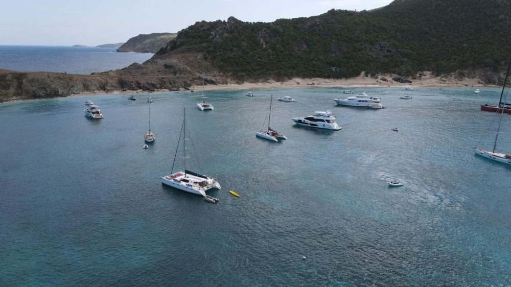 Colombier Bay on St. Barths is a popular anchorage