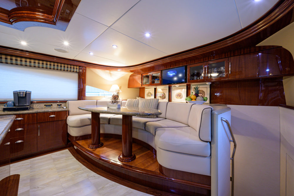 M/Y Bella Contessa's country galley. Bahamas motor-yacht charter Bella Contessa