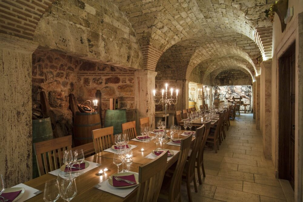 Tomic Tasting room on Hvar, Central Dalmatia, Croatia.